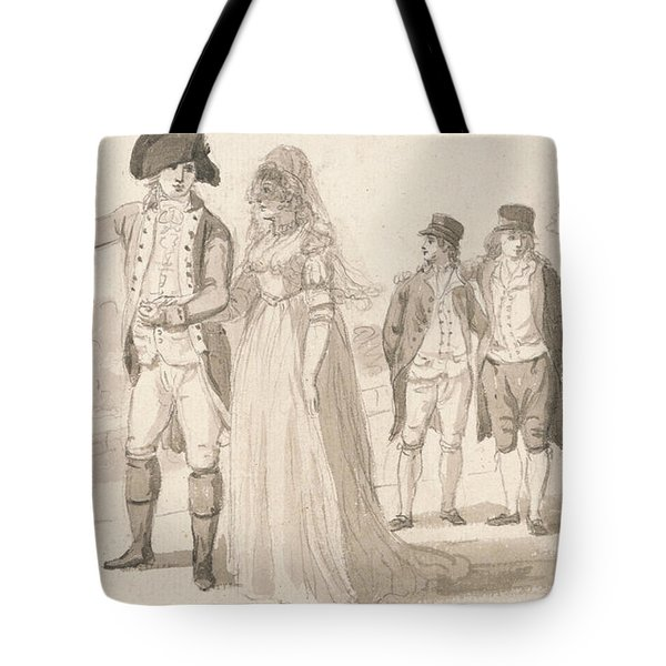 A Family In Hyde Park Tote Bag by Paul Sandby