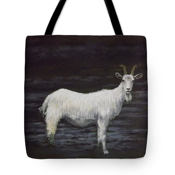 A Feral Goat On The Burren Tote Bag by Sean Conlon