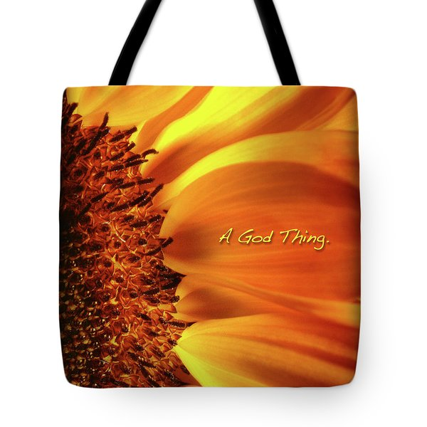 A God Thing-2 Tote Bag by Shevon Johnson