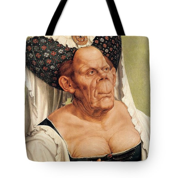 A Grotesque Old Woman Tote Bag by Quentin Massys