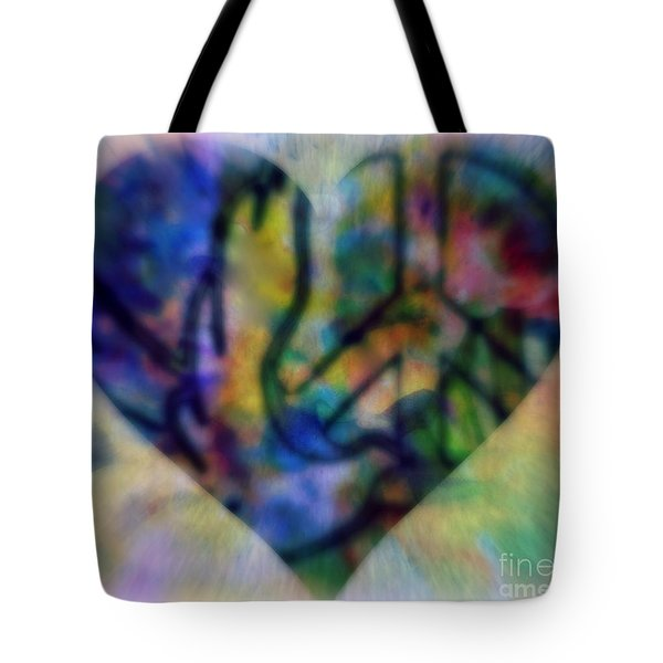A Heart For Peace Tote Bag by WBK