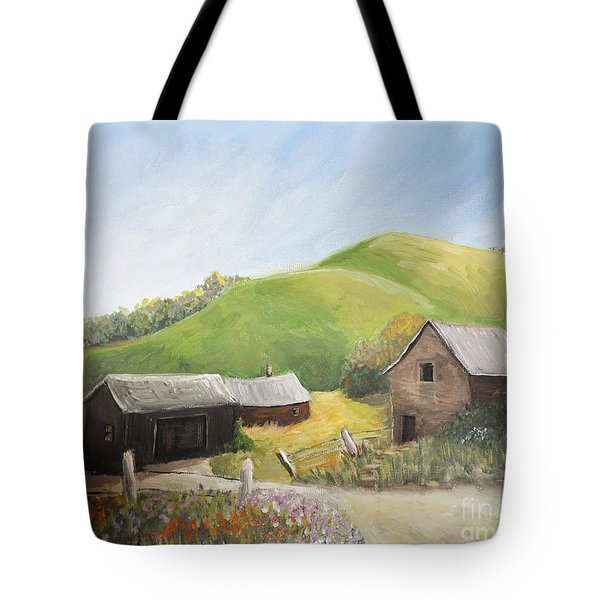 A Little Country Scene Tote Bag by Reb Frost