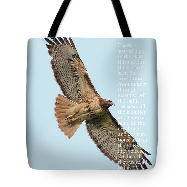 A Moment In Time . Poetry Series Tote Bag by Wingsdomain Art and Photography
