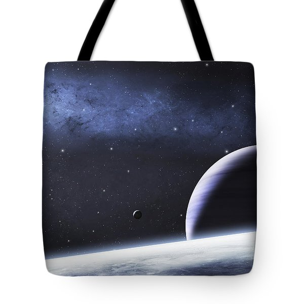 A Mysterious Light Illuminates A Small Tote Bag by Justin Kelly