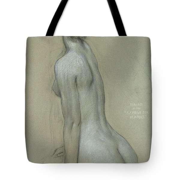 A Naiad In The Lament For Icarus Tote Bag by Herbert James Draper