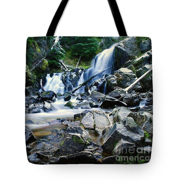 A New Way To The Waterfall  Tote Bag by Jeff Swan
