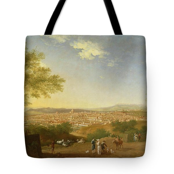 A Panoramic View Of Florence From Bellosguardo Tote Bag by Thomas Patch