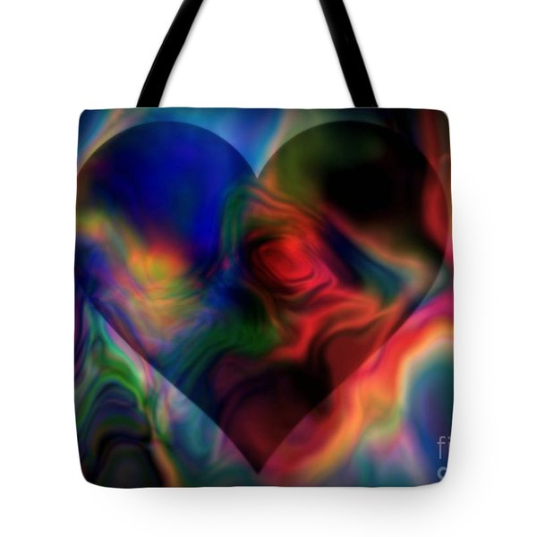 A Passionate Heart Tote Bag by WBK