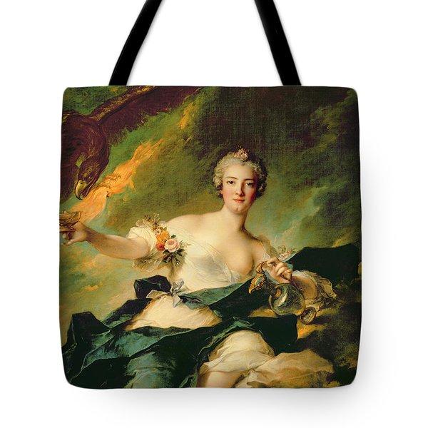 A Portrait Of Anne Josephe Bonnnier De La Mossau  Tote Bag by Jean Marc Nattier