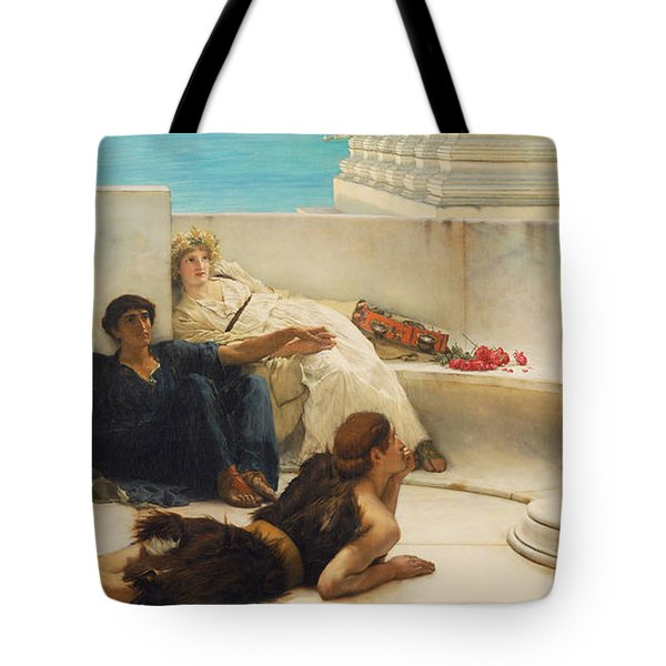 A Reading From Homer Tote Bag by Celestial Images