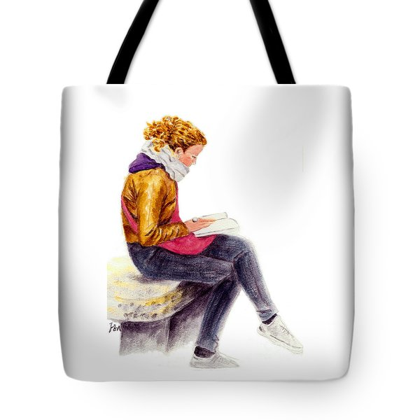A Reading Girl In Milan Tote Bag by Jingfen Hwu