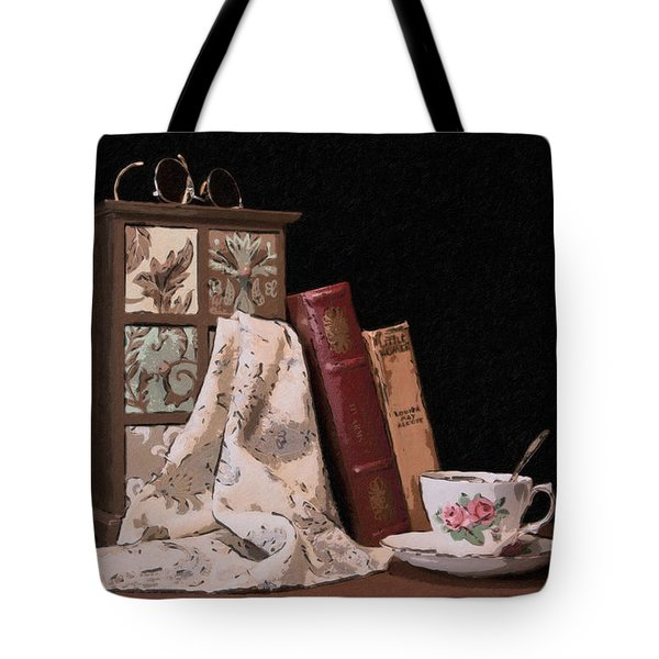 A Relaxing Evening Tote Bag by Tom Mc Nemar