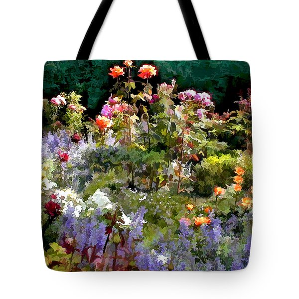 A Riot Of Roses Tote Bag by Elaine Plesser