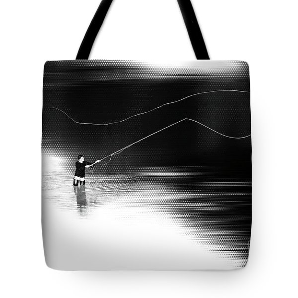 A River Runs Through It Tote Bag by Hannes Cmarits