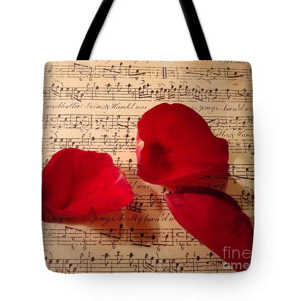 A Romantic Note Tote Bag by Kathy Bucari