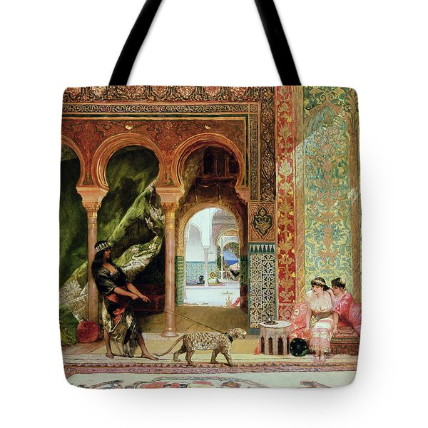 A Royal Palace In Morocco Tote Bag by Benjamin Jean Joseph Constant