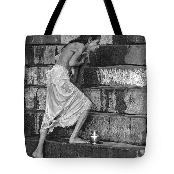 A Sacred Place Bw  Tote Bag by Steve Harrington