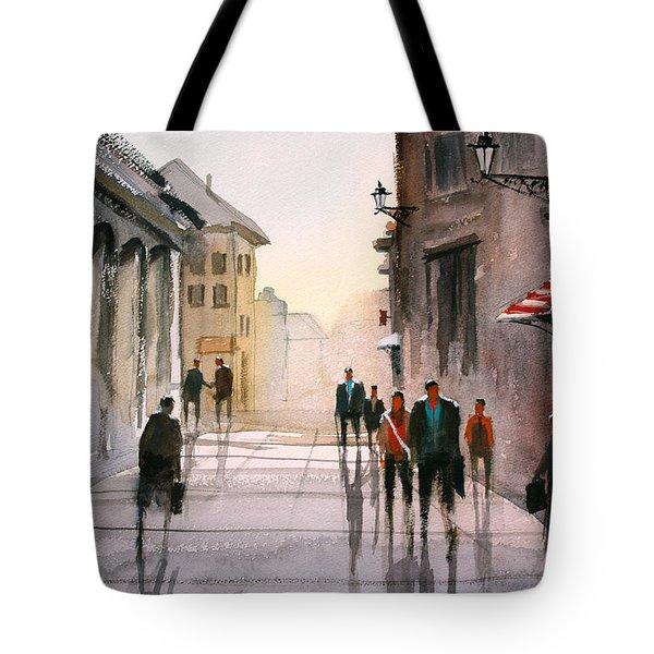 A Stroll In Italy Tote Bag by Ryan Radke
