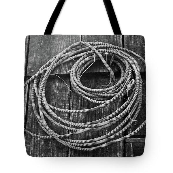 A Study of Wire in Gray Tote Bag by Douglas Barnett