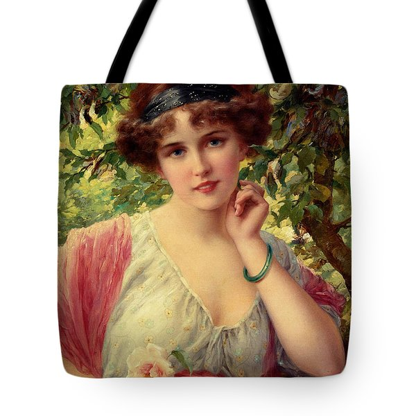 A Summer Rose Tote Bag by Emile Vernon