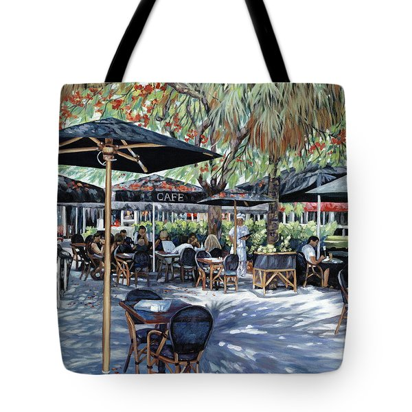 A Table for Two Tote Bag by Danielle  Perry