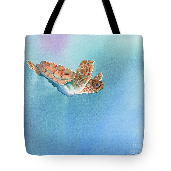 A Turtles Flight Tote Bag by Tracy L Teeter