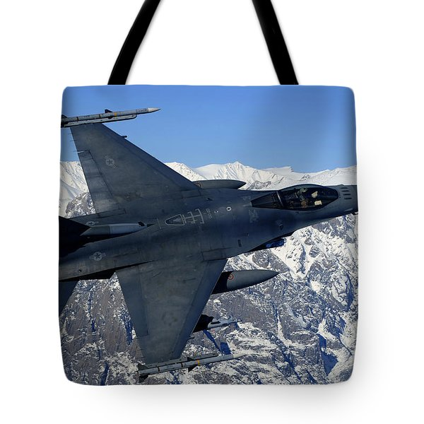 A U.s. Air Force F-16 Fighting Falcon Tote Bag by Stocktrek Images