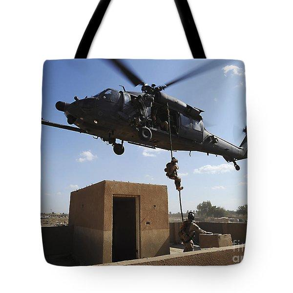 A U.s. Air Force Pararescuemen Fast Tote Bag by Stocktrek Images