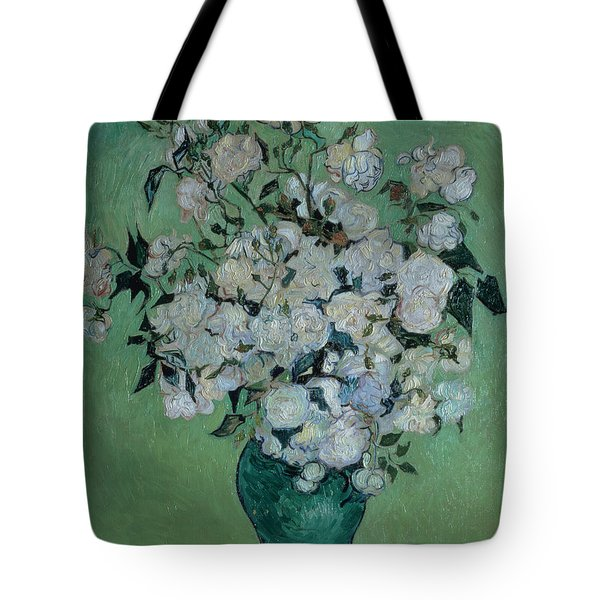 A Vase Of Roses Tote Bag by Vincent van Gogh