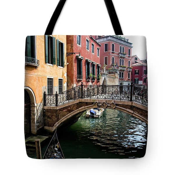 A Venetian Canal Tote Bag by Michelle Sheppard
