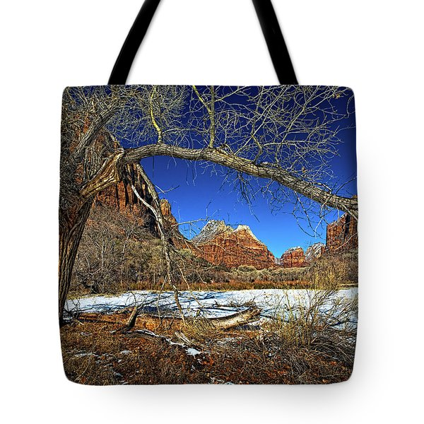 A View In Zion Tote Bag by Christopher Holmes