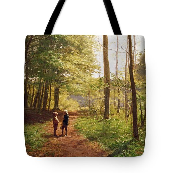 A Walk In The Forest Tote Bag by Niels Christian Hansen