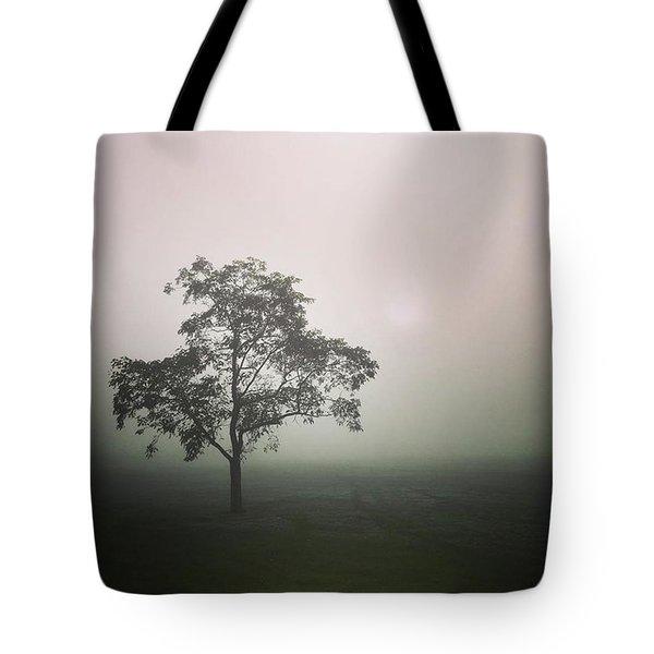 A Walk Through The Clouds #fog #nuneaton Tote Bag by John Edwards