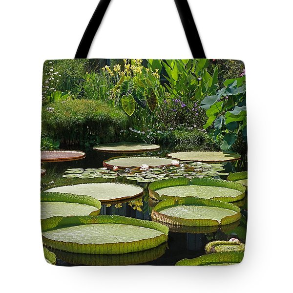 A Water Garden Tote Bag by Byron Varvarigos