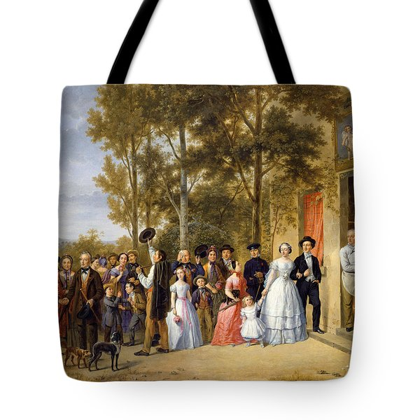 A Wedding At The Coeur Volant Tote Bag by French School
