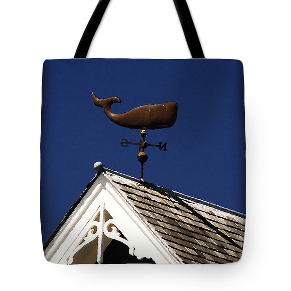 A Whale Of A House Tote Bag by David Lee Thompson