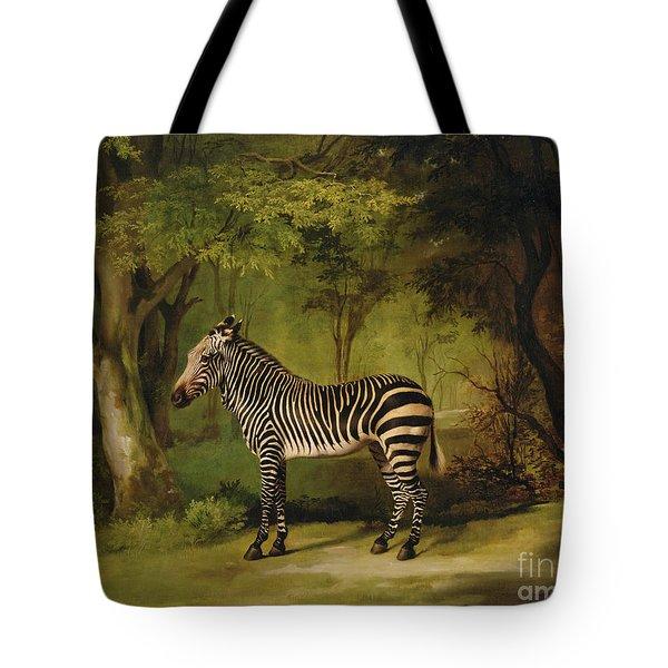 A Zebra Tote Bag by George Stubbs