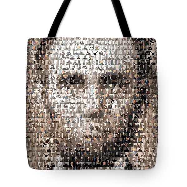 Abe Lincoln Presidents Mosaic Tote Bag by Paul Van Scott