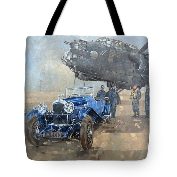 Able Mable And The Blue Lagonda  Tote Bag by Peter Miller