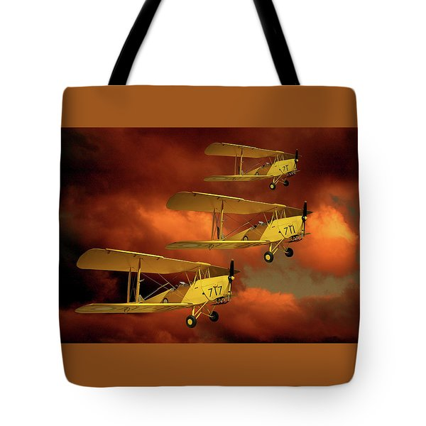 Above The Red Skys Tote Bag by Steven Agius