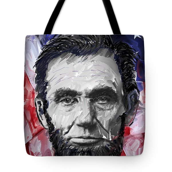 ABRAHAM LINCOLN - 16th U S PRESIDENT Tote Bag by Daniel Hagerman
