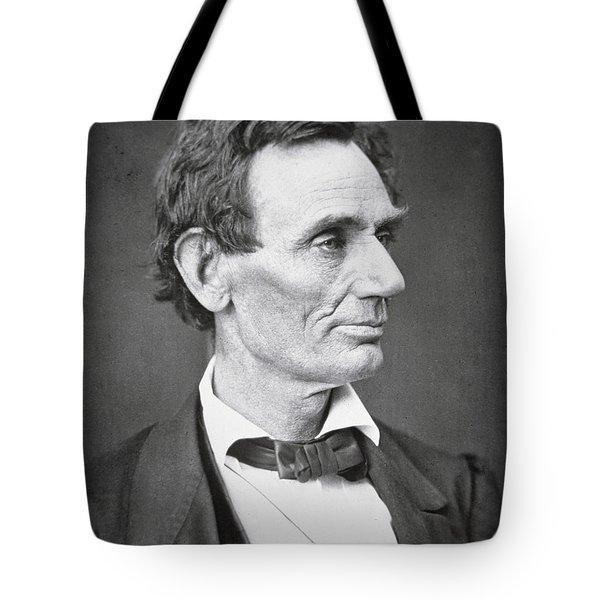 Abraham Lincoln Tote Bag by Alexander Hesler
