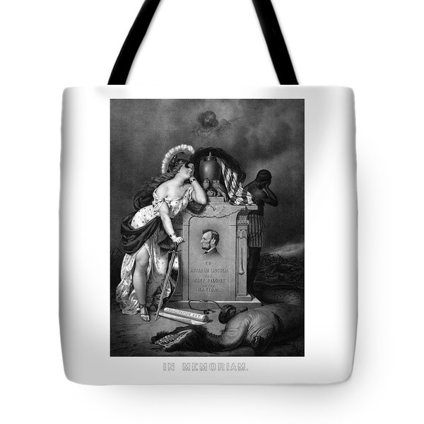 Abraham Lincoln In Memoriam  Tote Bag by War Is Hell Store
