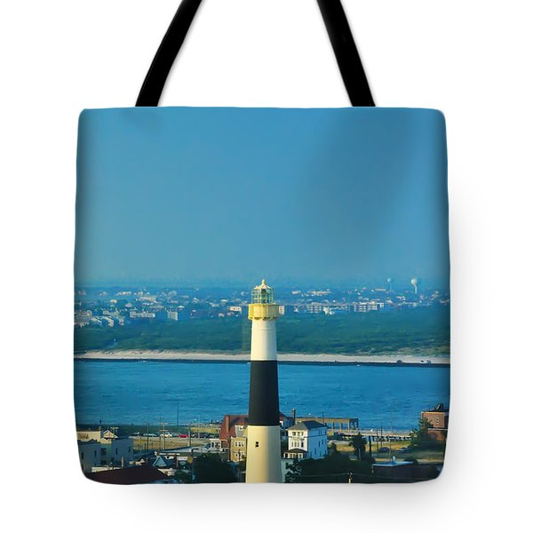 Absecon Lighthouse Atlantic City Tote Bag by Bill Cannon