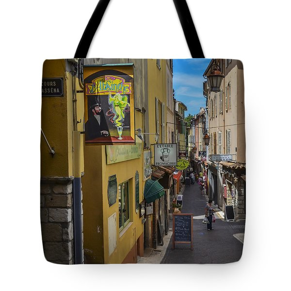 Absinthe In Antibes Tote Bag by Allen Sheffield