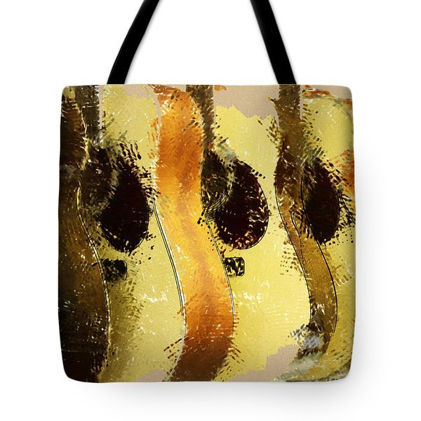 Abstract Acoustic Guitars Tote Bag by David G Paul