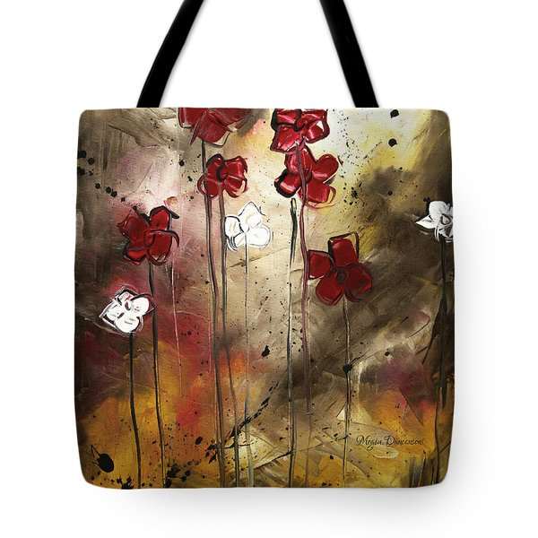 Abstract Art Original Flower Painting Floral Arrangement By Madart Tote Bag by Megan Duncanson