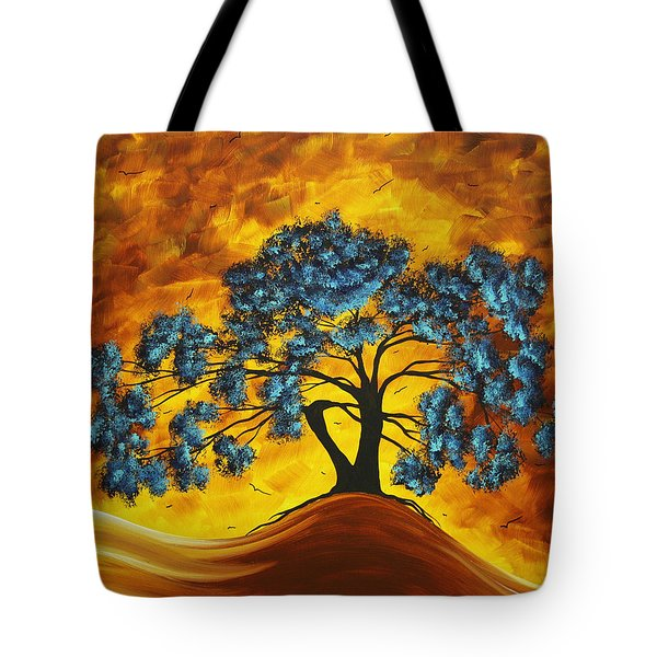 Abstract Art Original Landscape Painting DREAMING IN COLOR by MADARTMADART Tote Bag by Megan Duncanson