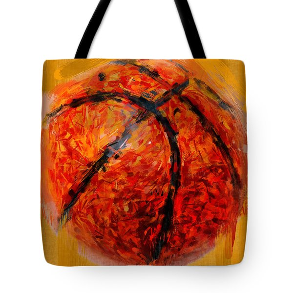 Abstract Basketball Tote Bag by David G Paul