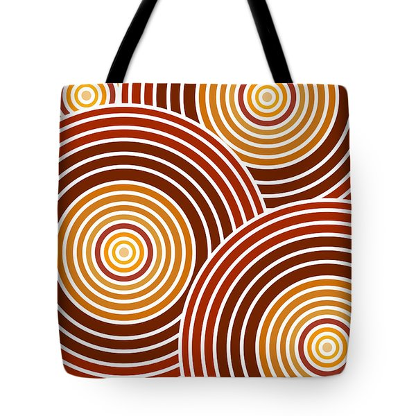Abstract Circles Tote Bag by Frank Tschakert